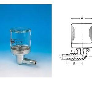 Constant Level Oiler - Steel Body - Glass Bottle-0