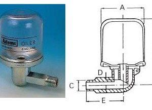 Constant Level Oiler - Steel Body - Plastic Bottle-0