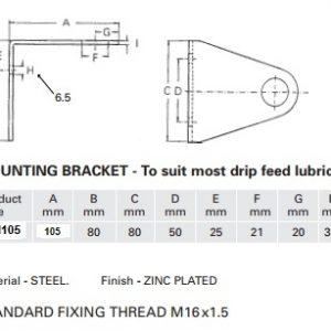 Drip Feed Lubricator Mounting Bracket-0