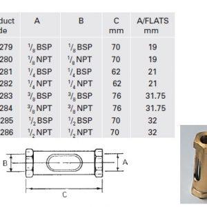 Brass Oil Line Flow - Model OL4281-0