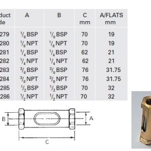 Brass Oil Line Flow - Model OL4285-0